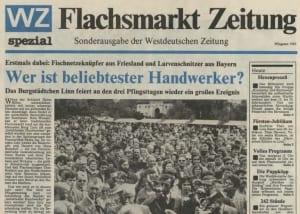 Auch 1985 gab es eine Flachsmarktzeitung