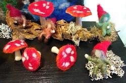 Filzen mit Wolle / Seide