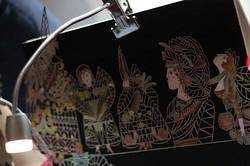 Kupferprägung und -malerei