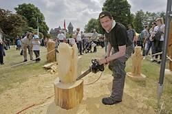 Holz-Motorsägeschnitzkunst