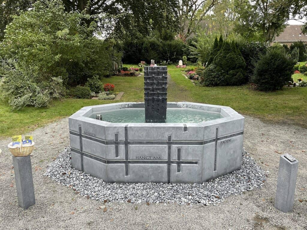 Der neue Friedhofsbrunnen